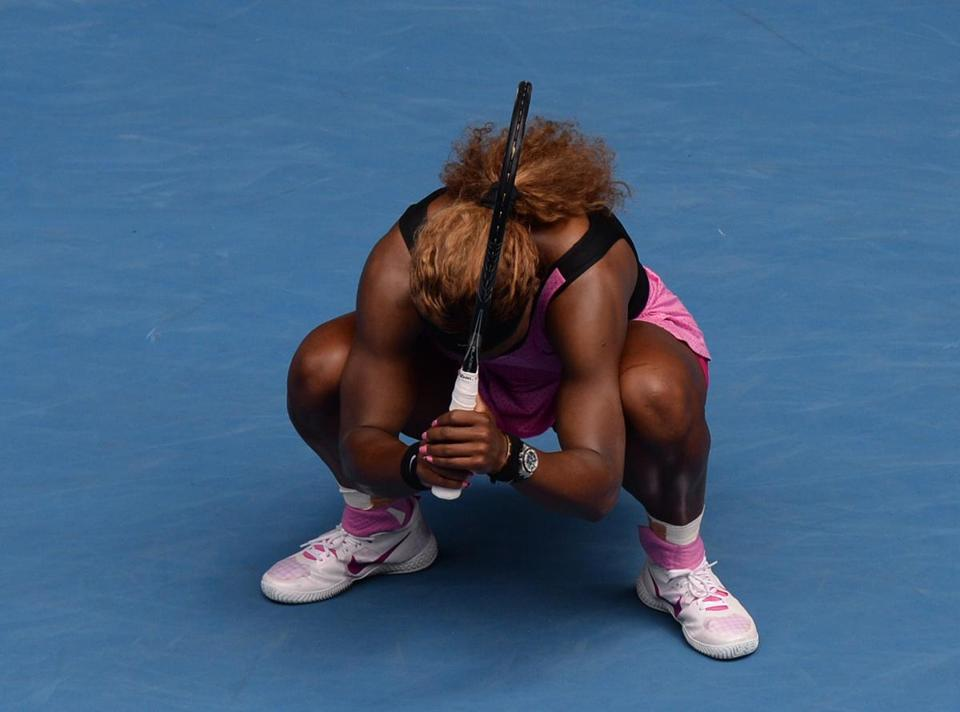 Serena Williams had her winning streak stopped at 25 matches.